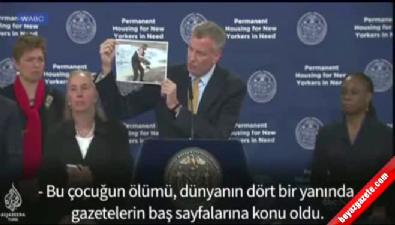 New York Belediye Başkanı'ndan Aylan çıkışı