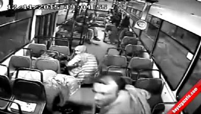 PKK yandaşları otobüse molotof attı