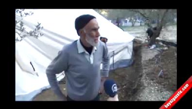 Türkmendağı'nda çadırda zorlu yaşam