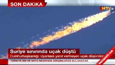 TSK'dan düşürülen uçakla ilgili ilk açıklama