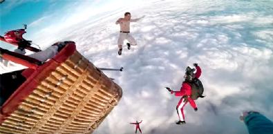 Binlerce Metreden Paraşütsüz Atladı!