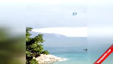 Sahilde Oluşan Hortum Kameraya Böyle Yansıdı
