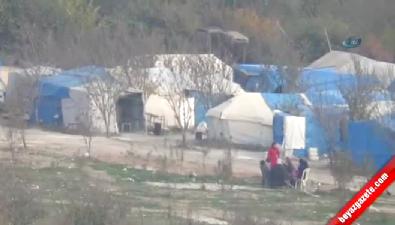 Bombardımandan Kaçan Türkmenler Sınıra Sığındı