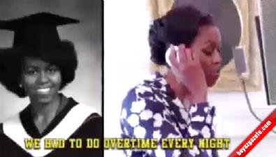 Michelle Obama rap yaptı