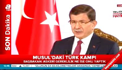 Davutoğlu'dan Musul'daki askeri birlik ile ilgili açıklama