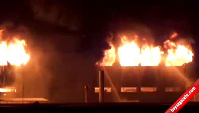 Bursa'da iplik fabrikasındaki yangın