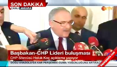 Davutoğlu - Kılıçdaroğlu görüşmesi sonrası ilk açıklama