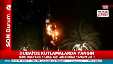 Burj Halife'de yılbaşı kutlamasında yılbaşı kutlamasında yangın çıktı