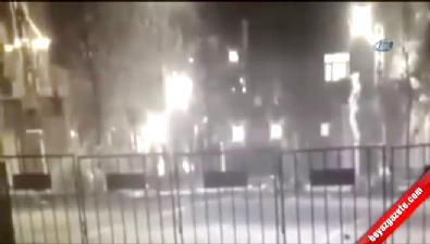 Polise roketatarlı saldırı böyle görüntülendi