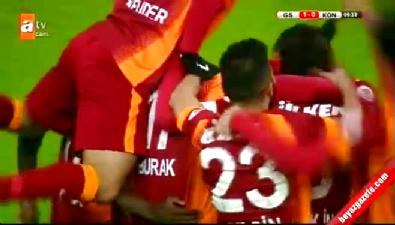 Galatasaray 4 - 1 Torku Konyaspor Türkiye Kupası maç özeti ve goller