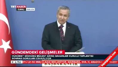 bakanlar kurulu toplantisi - Fethullah Gülen öldü mü? sorusu Arınç'ı çileden çıkarttı