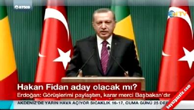 Erdoğan'dan 'Hakan Fidan' sorusuna cevap