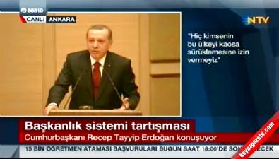 Cumhurbaşkanı Erdoğan: Ben milletin tarafıyım