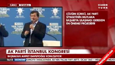 Başbakan Ahmet Davutoğlu AK Parti İstanbul 5. Olağan İl Kongresi'nde konuştu