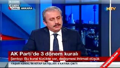 Mustafa Şentop: Üç dönem kuralının değişmesi zor
