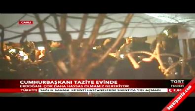 Erdoğan'dan şehit savcının evine taziye ziyareti