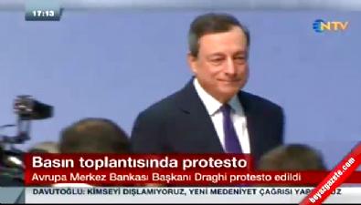 Avrupa Merkez Bankası Toplantısında Protesto