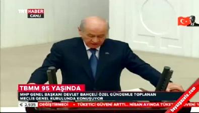 MHP lideri Devlet Bahçeli'den Meclis'te 23 Nisan konuşması