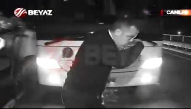 Vurulan şoförün görüntüleri Beyaz Futbol'da