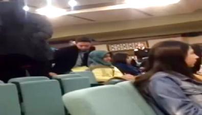 turgut ozal - Paralelcilerin üniversitesinde CHP propagandasına tepki