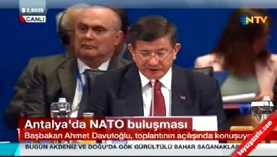Davutoğlu, NATO Dışişleri Bakanları toplantısında konuştu