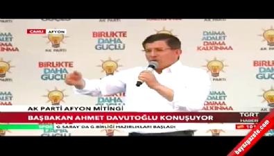 Başbakan Davutoğlu Afyon'da Kılıçdaroğlu'na yüklendi