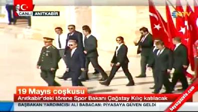 19 Mayıs törenlerinin ilki Gençlik ve Spor Bakanı Çağatay Kılıç başkanlığında Anıtkabir'de gerçekleşti