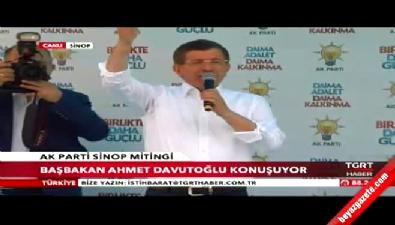 Davutoğlu Sinop'ta halka hitap etti