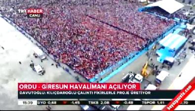 Başbakan Davutoğlu, Ordu-Giresun Havalimanı açılış töreninde konuştu