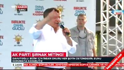 Davutoğlu partisinin Şırnak mitinginde konuştu