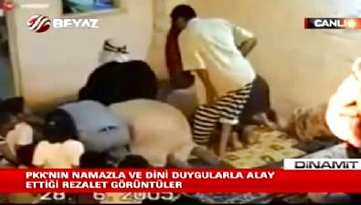 PKK'nın namazla ve dini duygularla alay ettiği rezil görüntüler (VTR)