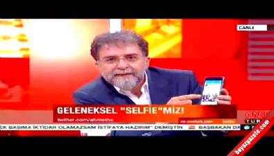 Ahmet Hakan Ak Parti için selfie yaptı