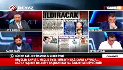 Dayak yiyen CHP'li Hüseyin Sağ Beyaz Tv'ye konuştu