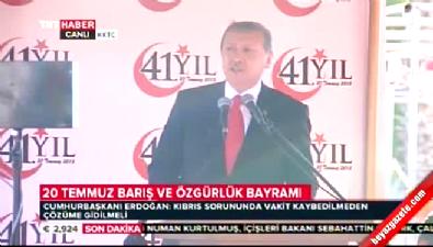 Cumhurbaşkanı Erdoğan Lefkoşa'daki törende konuştu
