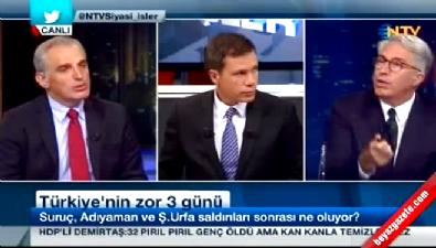 NTV canlı yayınında gergin anlar