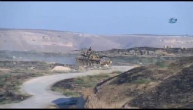 Türk tankını gören DAEŞ böyle kaçtı