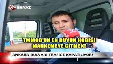 Ankara Bulvarı'nın kapatılmasına sürücülerden tepki