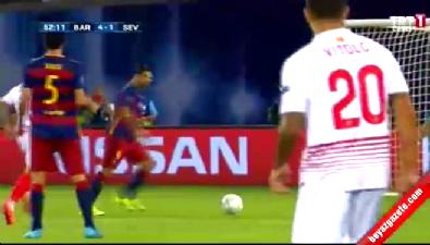 Barcelona: 4 Sevilla: 1 (Gol: Suarez) UEFA Süper Kupa finali
