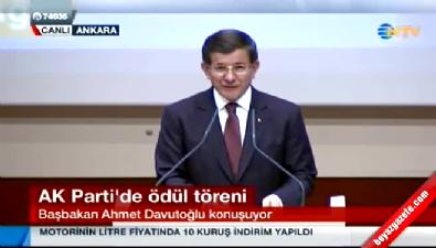 Başbakan Davutoğlu, AK Parti'de ödül töreninde konuştu