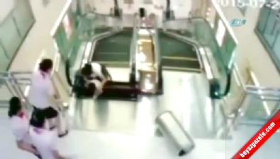 Merdiven kazasında faciadan dönüldü