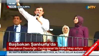 Başbakan Davutoğlu Ceylanpınar'da konuştu
