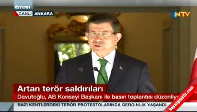 Başbakan Davutoğlu basın toplantısında konuştu