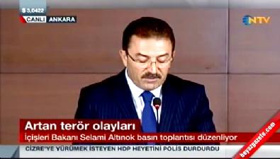 İçişleri Bakanı terör olaylarıyla ilgili açıklama yaptı
