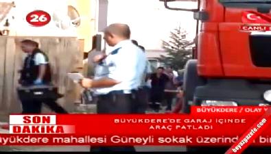Eskişehir Büyükdere'de Garaj İçinde Araç Patladı
