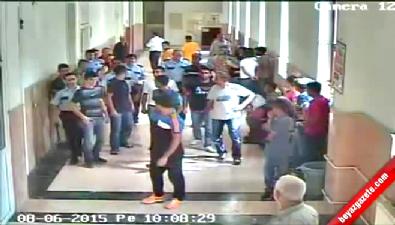 Adana Adliyesi'nde Arbede Güvenlik Kamerasında