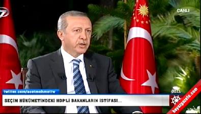 Cumhurbaşkanı Erdoğan İstifa Eden İki Bakan Hakkında Konuştu
