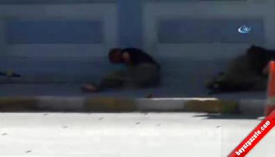 Tunceli'de karakola saldıran teröristlerin vurulma anı