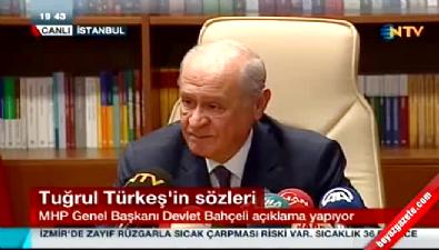 Devlet Bahçeli'den Tuğrul Türkeş açıklamaları