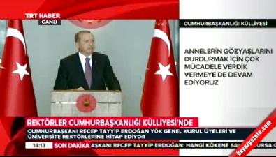 Cumhurbaşkanı Erdoğan: Tek çözüm terör örgütünün silah bırakması