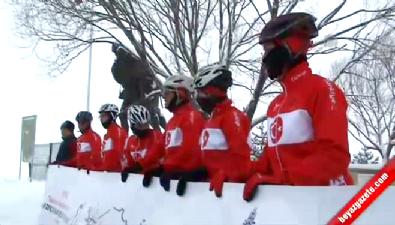 Milli bisikletçiler Sarıkamış'a ulaştı